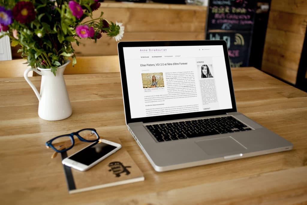 Création de site internet journalisme et communication : Anne Diradourian